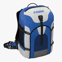 fishing backpack modeled 3d 3ds