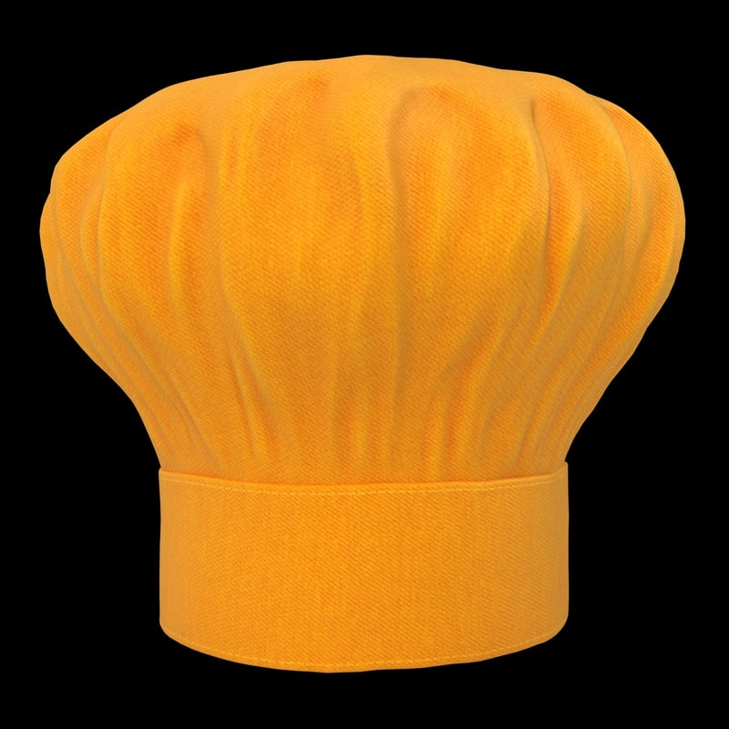 realistic chef hat 04 3d obj