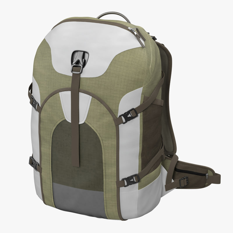 3d model fishing backpack generic