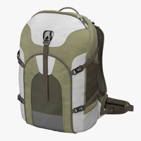 3d model fishing backpack generic