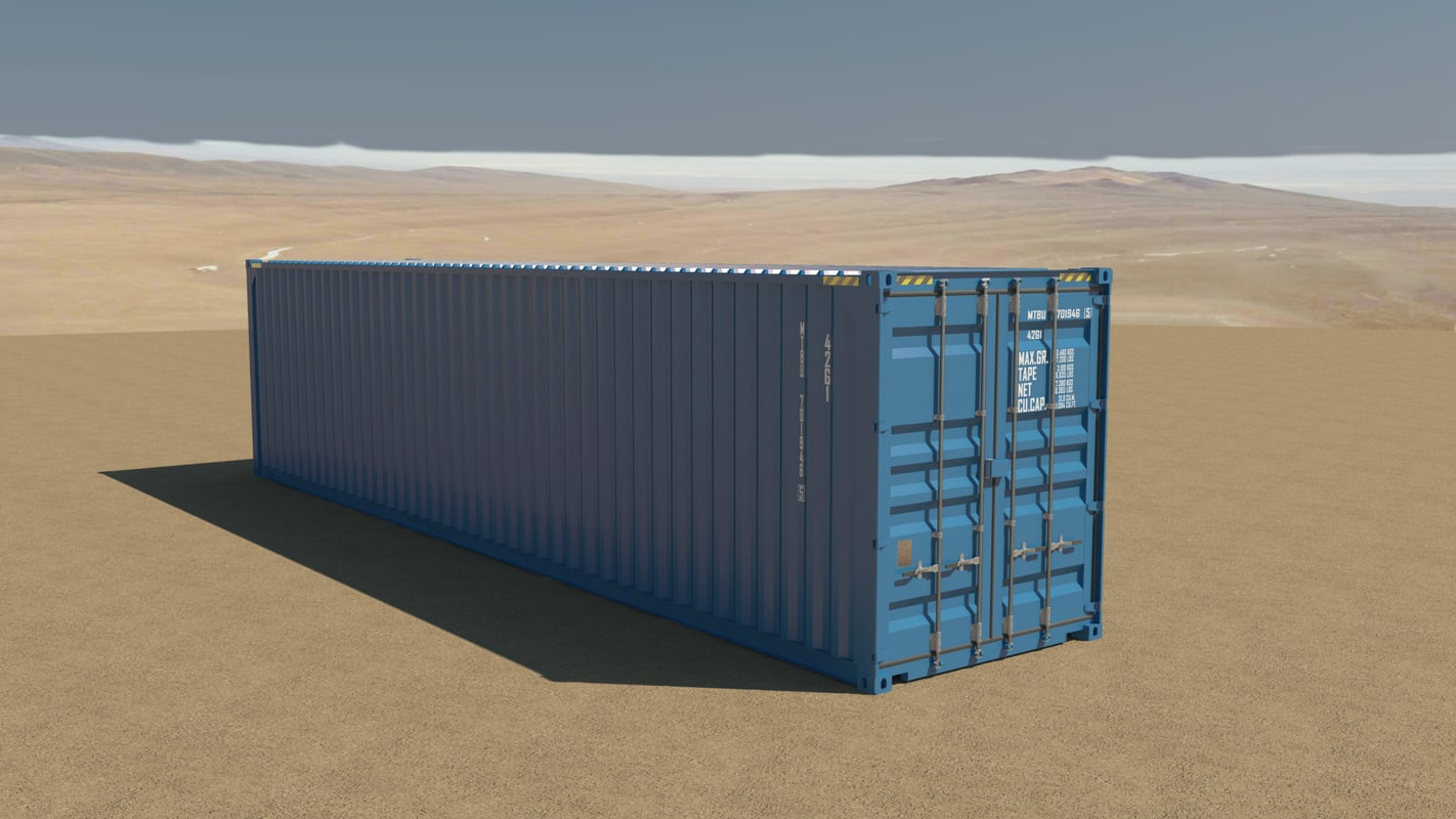 40ft container 3d 3ds