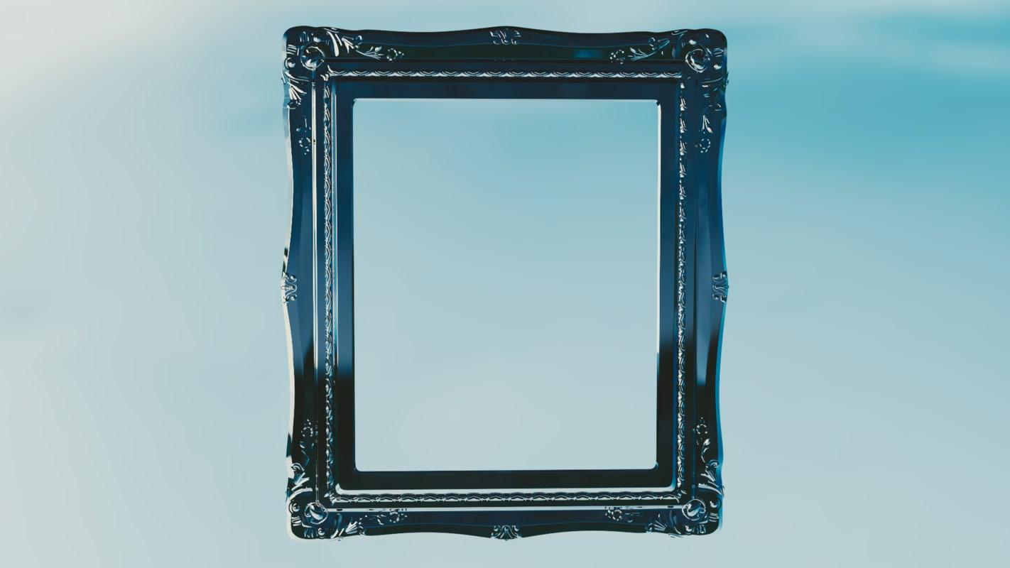 3d antique frame model