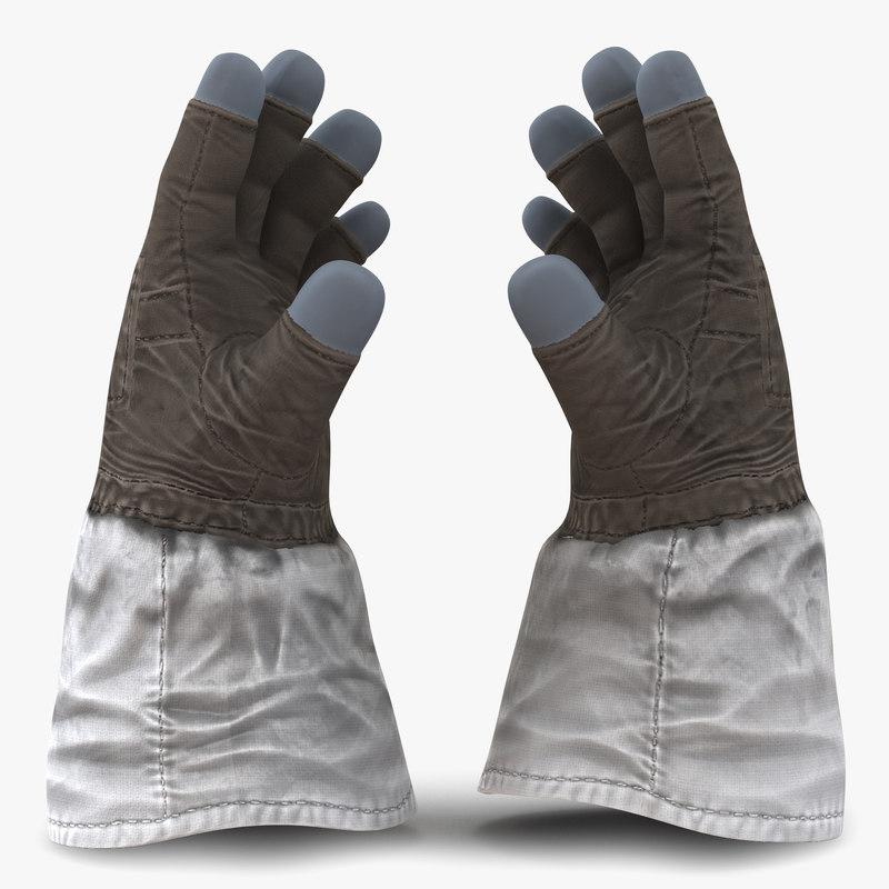 3d space gloves model