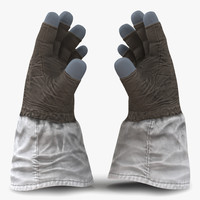 3d space gloves model