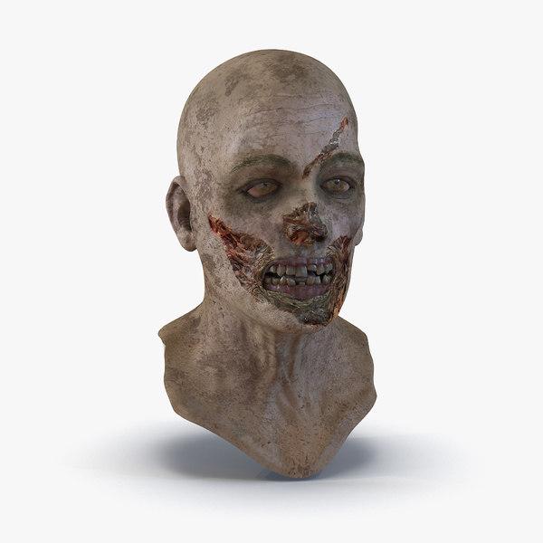 zombie head modeled 3d model