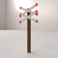 3d railroad crossing model