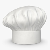 3d realistic chef hat 05