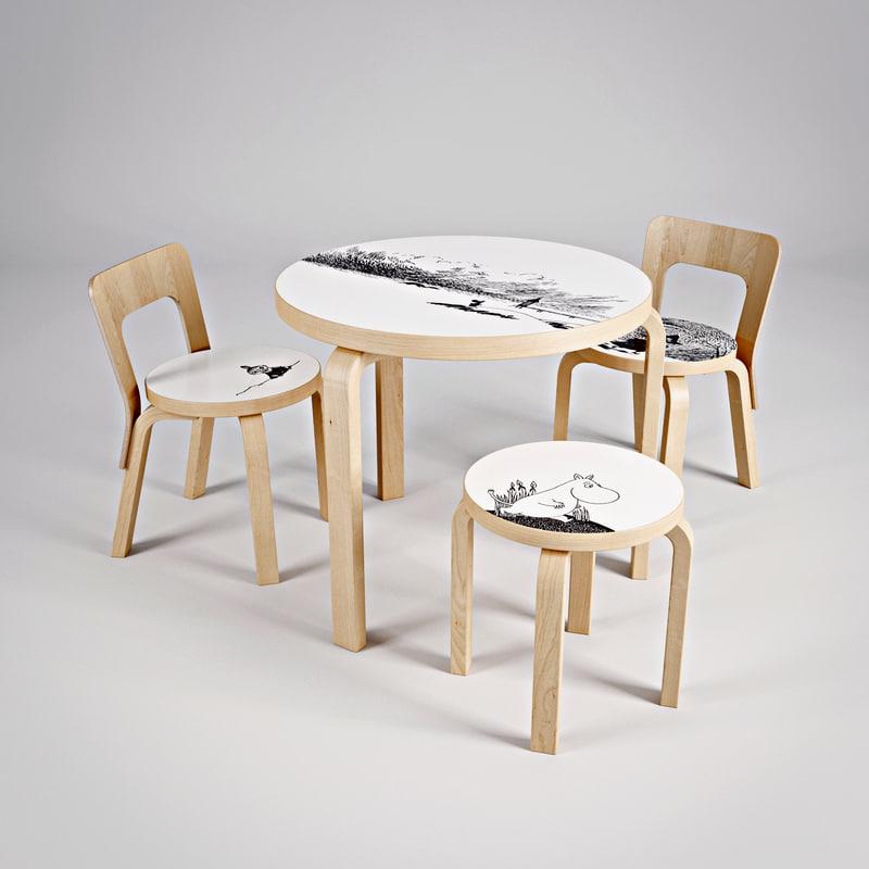 artek moomin chair table max
