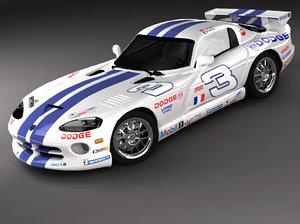 3d model dodge viper gts racing
