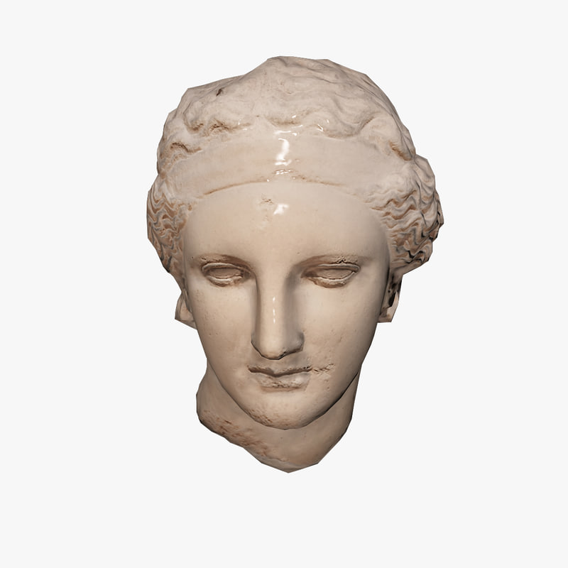 3d model ancient bust dionysus