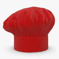 realistic chef hat 05 3d model