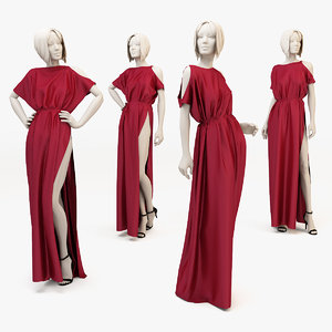 dress mannequin 3d max