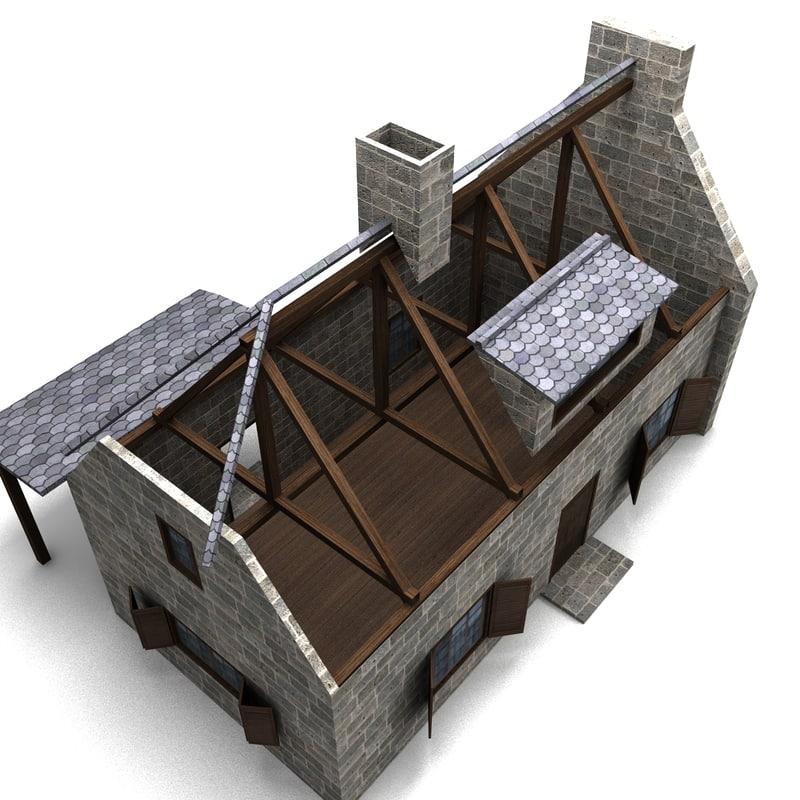 house old 3d obj