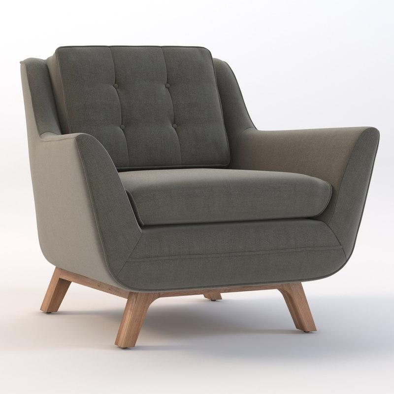 chair joybird eastwood 3d model