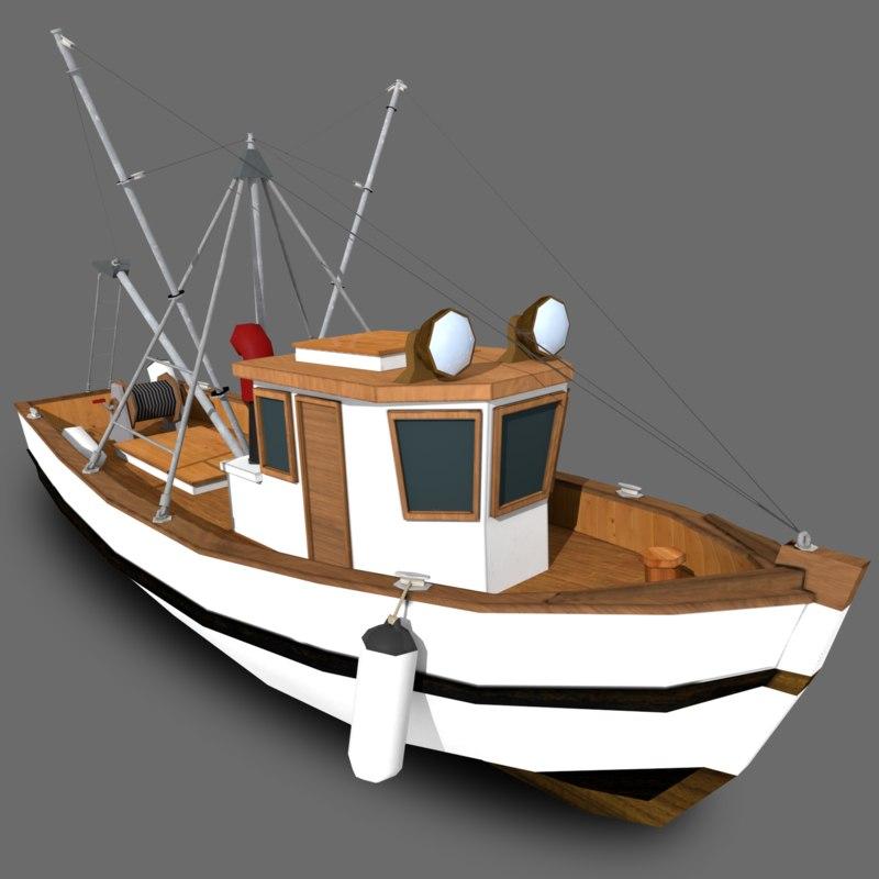 stylized fishing boat x