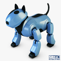 genibo robot dog blue 3d model