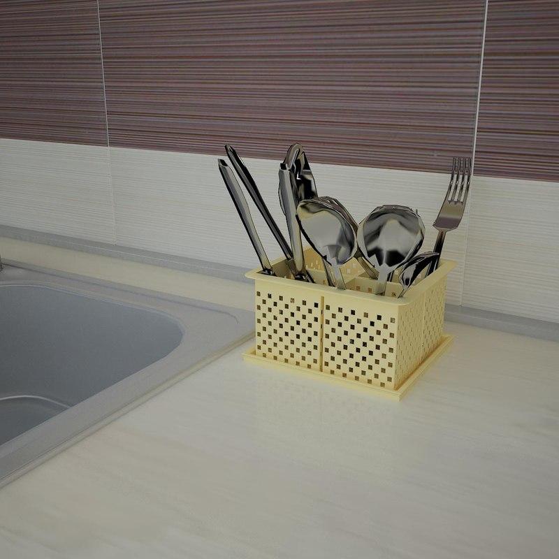 v-ray 1 cutlery dryer 3d model
