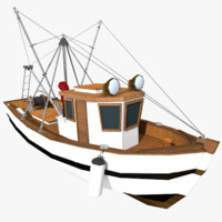 Fishing Boat (Low Poly)
