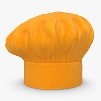 3d realistic chef hat 05 model
