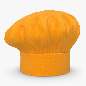 obj realistic chef hat 05