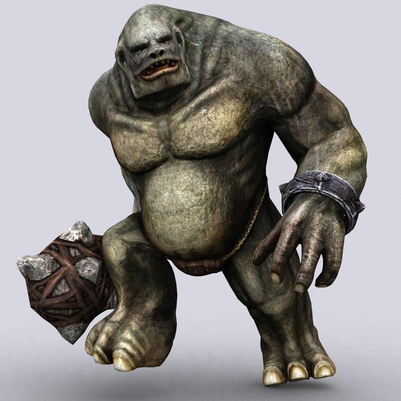 troll golem - 3ds