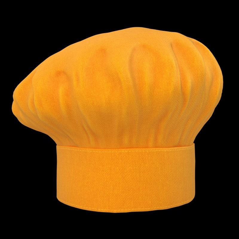 obj realistic chef hat 05