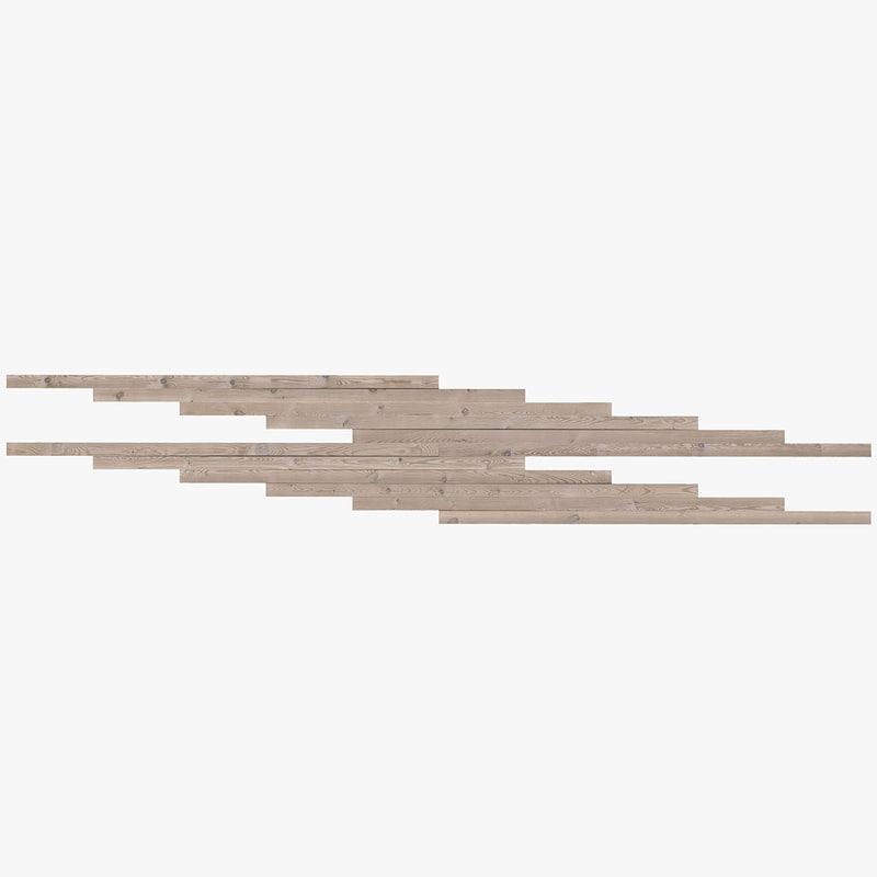 hi-res pine wood boards 3d obj