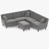 3d sofa joybird eastwood model