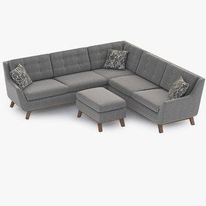 3d sofa joybird eastwood model