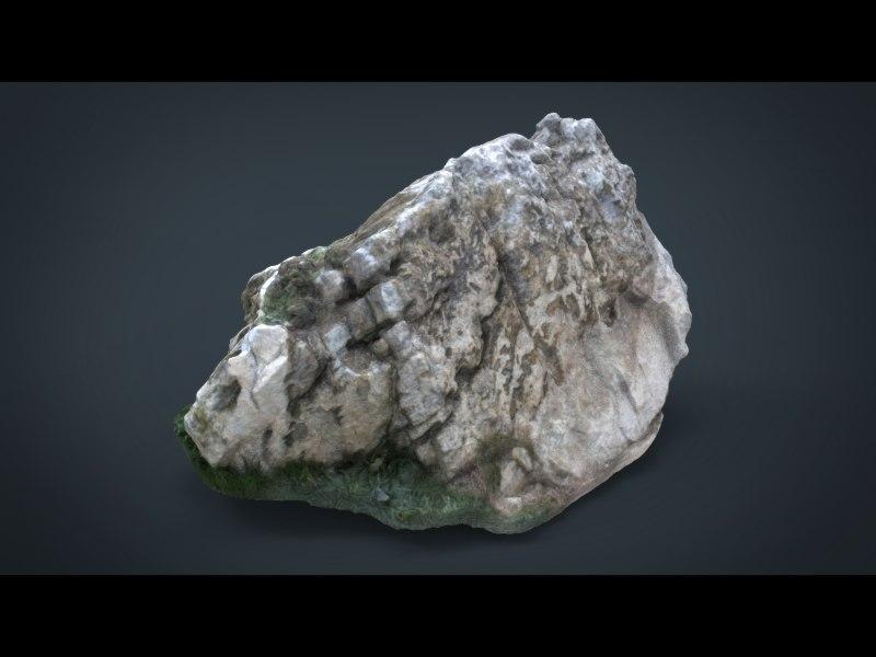 rock 8k 3d 3ds
