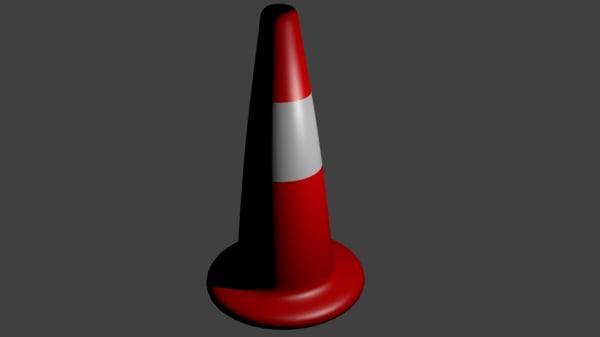 basic street cone 3d model