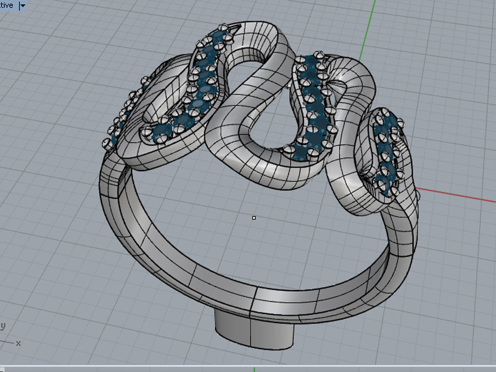 ring emeralds jewelry 3d model