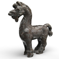 3d model figure antique horse