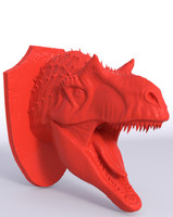 Alossaur head Wall trophy for 3D print