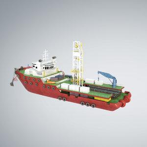 3d model vessel offshore supply