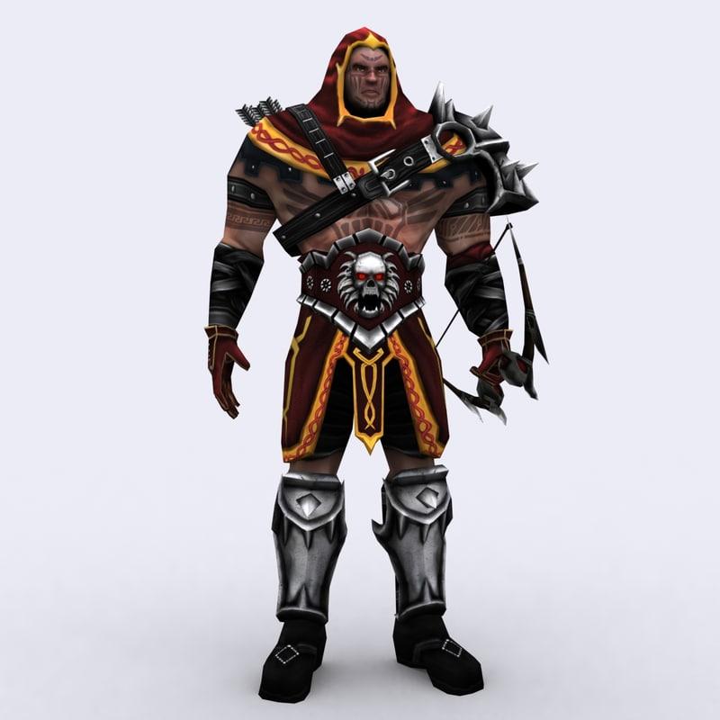 3d fantasy dark archers - model