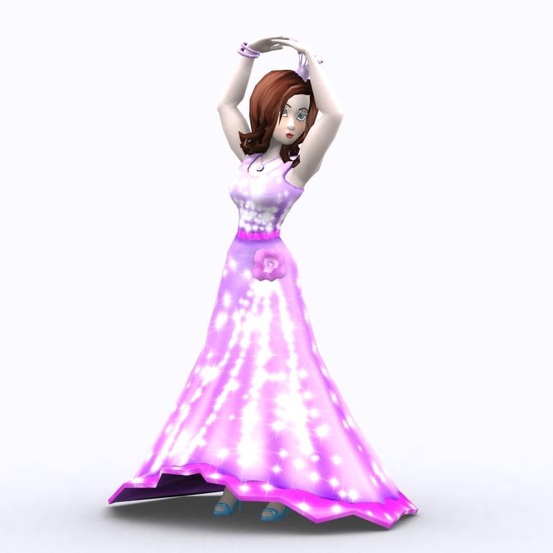 fantasy princesses - 3d 3ds