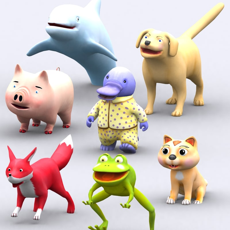 toonpets animals - 3d 3ds