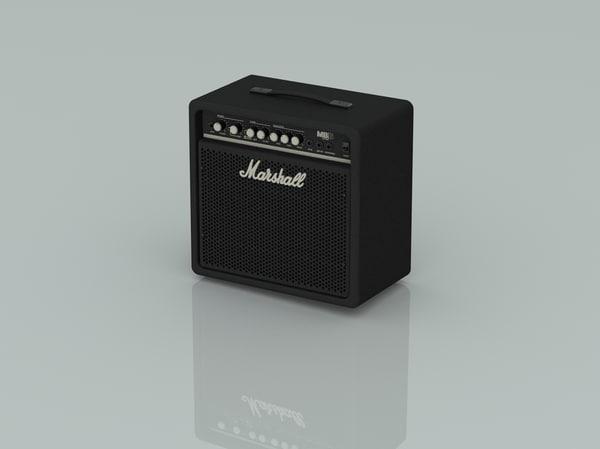marshall bass amp 3d obj