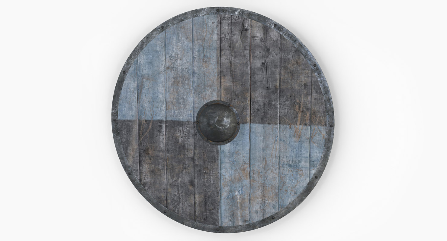 wooden shield vikings 3d 3ds
