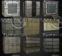 9 Sci-Fi Tileable Textures!HQ
