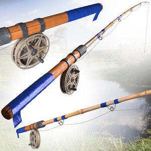 fishing rod 3d max