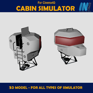 3d model simulator dome
