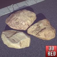 desert stones 3d x