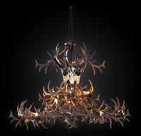 antler chandelier 3d max