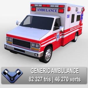3d generic ambulance model