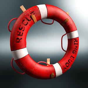3d lifebuoy buoy life