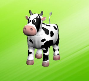 3d funny cow