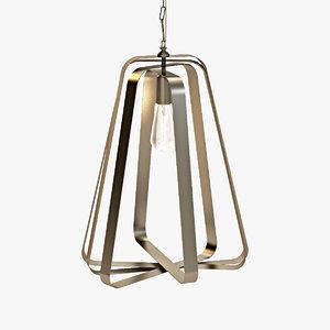 brass bulb light 3d model