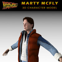 michael marty mcfly character 3d model